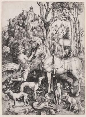 Albrecht Dürer, Heiliger Eustachius, 1501, Kunsthalle Bremen – Der Kunstverein in Bremen, Kupferstichkabinett