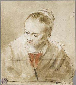 Kühles Licht und weite See: Abraham van Dyck, Porträt eines Mädchens, Kunsthalle Bremen – Der Kunstverein in Bremen, Kupferstichkabinett