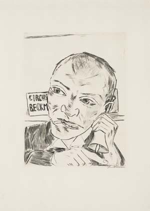 Max Beckmann, Der Ausrufer (Selbstbildnis), 1921, Kunsthalle Bremen - Der Kunstverein in Bremen, © VG Bild-Kunst, Bonn 2017