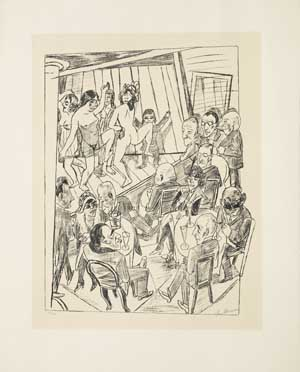 Max Beckmann, Nackttanz, 1922, Kunsthalle Bremen - Der Kunstverein in Bremen, © VG Bild-Kunst, Bonn 2017