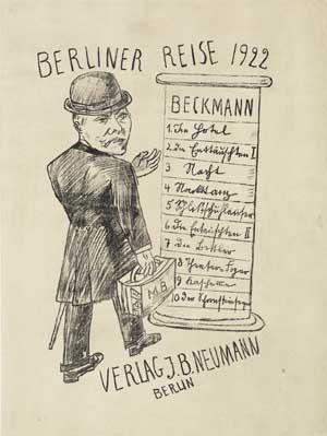 Max Beckmann, Selbstbildnis mit Koffer, 1922, Kunsthalle Bremen - Der Kunstverein in Bremen, © VG Bild-Kunst, Bonn 2017