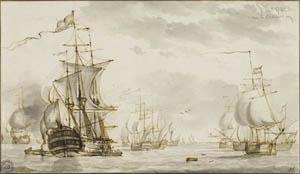 Kühles Licht und weite See: Hendrik Kobell, Seestück, 1767, Kunsthalle Bremen – Der Kunstverein in Bremen, Kupferstichkabinett