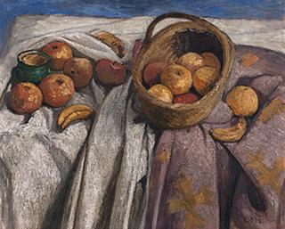 Paula Modersohn-Becker, Stillleben mit Äpfeln und Bananen, 1905