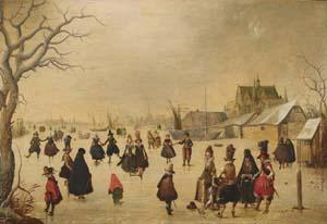 Adam van Breen, Elegante Gesellschaft auf dem Eis, um 1611