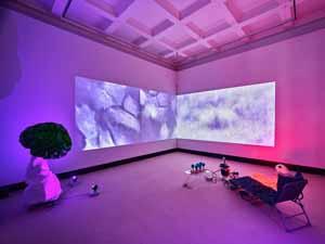 Anne Duk Hee Jordan, Atmospheres of Breathing, 2020, Installationsansicht Kunstpreis der Böttcherstraße in Bremen 2020, Kunsthalle Bremen, Courtesy Anne Duk Hee Jordan, Foto: Marcus Meyer
