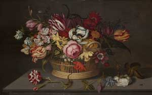 Ambrosius Bosschaert der Jüngere, Blumenkorb, 1631