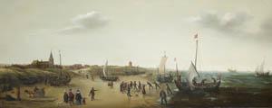 Hendrik Vroom, Strandlandschaft bei Scheveningen, um 1630