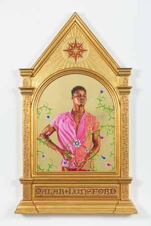 Kehinde Wiley, Porträt von Malak Lunsford, 2019, Kunsthalle Bremen - Der Kunstverein in Bremen, Courtesy Sean Kelly Gallery, New York, © Kehinde Wiley 2019