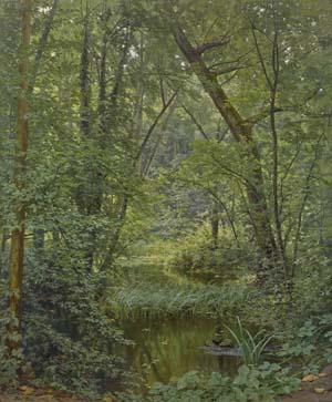 Henri Biva, Ein Teich im Wald, Anfang 20. Jh., Kunsthalle Bremen – Der Kunstverein in Bremen