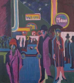 Ernst Ludwig Kirchner, Straßenszene bei Nacht, 1925, Kunsthalle Bremen – Der Kunstverein in Bremen
