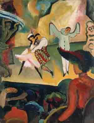 August Macke, Russisches Ballett I, 1912, Kunsthalle Bremen – Der Kunstverein in Bremen