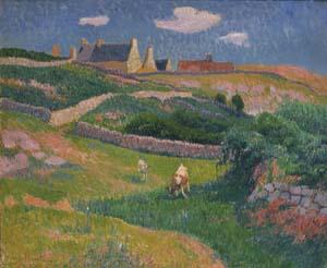 Henry Moret, Bretonische Landschaft (Das Tal von Kerlar, Ile de Groix), 1896, Kunsthalle Bremen – Der Kunstverein in Bremen