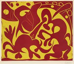 Pablo Picasso, Die Lanze (rot und gelb), 1959, Kunsthalle Bremen – Der Kunstverein in Bremen, © Succession Picasso / VG Bild-Kunst, Bonn 2020