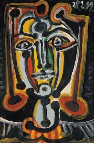 Pablo Picasso, Frauenkopf, 1949, Kunsthalle Bremen – Der Kunstverein in Bremen, © Succession Picasso / VG Bild-Kunst, Bonn 2020