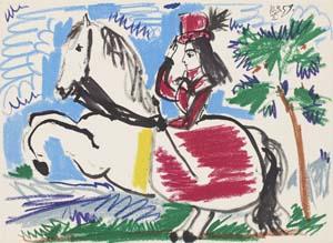 """Reprodaus: """"Picasso. Toros y Toreros"""", 1961, Kunsthalle Bremen – Der Kunstverein in Bremen, © Succession Picasso / VG Bild-Kunst, Bonn 2020"""