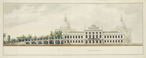 Karl Iwanowitsch Rossi, Nordfassade des Tverer Schlosses, 1809, Kunsthalle Bremen – Der Kunstverein in Bremen, Kupferstichkabinett