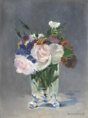 Manet und Astruc: Edouard Manet, Blumen in einer Kristallvase, ca. 1882, National Gallery of Art, Washington, Ailsa Mellon Bruce Collection