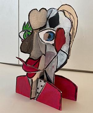 Schablonen-Vorlage für das Kreativ-Tutorial Steck-Figur aus Wellpappe